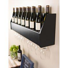 Floating Black Wine Rack | Overstock.com Shopping - Great Deals on Prepac Wine Racks