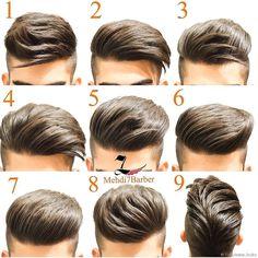 Same hair different hairstyles - HerrenMode - Cheveux Latest Hairstyles, Hairstyles Haircuts, Haircuts For Men, Hairstyles For Boys, Barber Hairstyles, Amazing Hairstyles, Fashion Hairstyles, Elegant Hairstyles, Short Hair Cuts