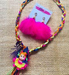 Collar y aretes Mariamoñito  #accesorioscarnaval