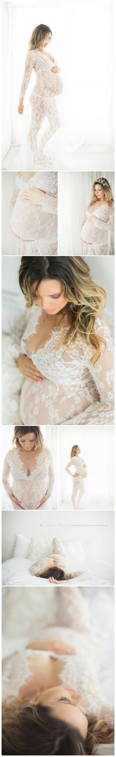 San Diego Maternity Photographer | maternity photos, lace gown, floral crown, feminine, maternity photos www.michellepoppphotography