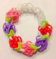 Rainbow Loom Tulip Rubber Band Bracelet  Purple by BCsBracelets, $2.50