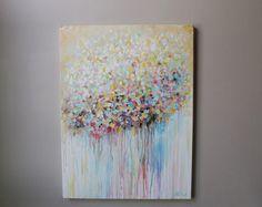 Resumen pintura original de arte abstracto moderno por artbyoak1