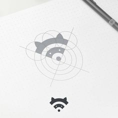 Wifi and raccoon mark by @artism_design Use #logolearn and get involved!