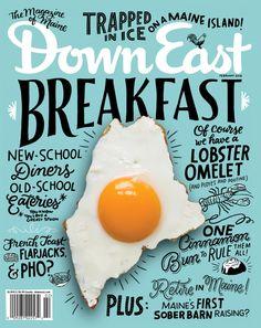 Script handwritten typography magazine cover design