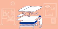 Why does anyone wake up sweaty? Jordan Lay, a senior mechanical engineer at Casper, explores the science of sleeping hot. Casper Mattress, Jacky Winter, Poster Ads, Stay In Bed, Good Sleep, Sleep Well, Adjustable Beds, Stay Cool, New Theme