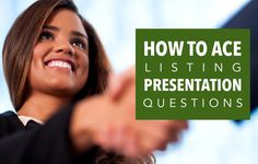 Nail real estate listing presentations with these expert answers to some of the most important listing presentation questions.http://plcstr.com/12z93NP