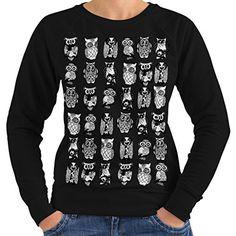 Wellcoda   Multiple Owl Funny Womens NEW Bird Artwork Black Sweatshirt XXL Wellcoda http://www.amazon.co.uk/dp/B01AXVK3MA/ref=cm_sw_r_pi_dp_uokfxb0088GBW