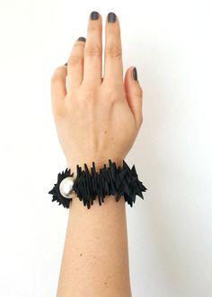 Polsino bracciale Bracciale Bold schiuma nera Bracciale