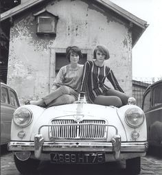 "In 1965 Look magazine described Catherine Deneuve, right, as ""sweet"" and her older sister, Françoise Dorléac, left, ""soignée."""