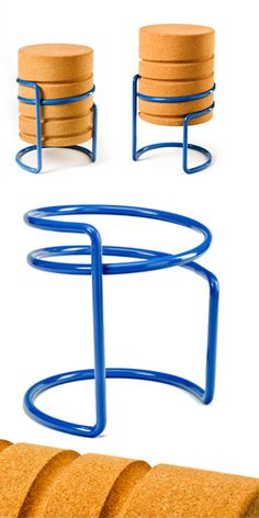While not the most attractive, an inspired design for adjustable stools: http://welsky.net/