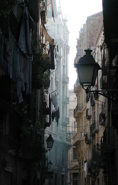 Barcelona, Spain - This photo captures everything I love about traveling in Europe.  So enchanting.