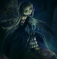 Photo of Gothic Anime Girl for fans of Gothic. Dark Anime, Gothic Anime Girl, Vampire Images, Cool Wallpapers For Girls, Angel Manga, Manga Tattoo, Angel Images, Vampire Girls, Beautiful Anime Girl