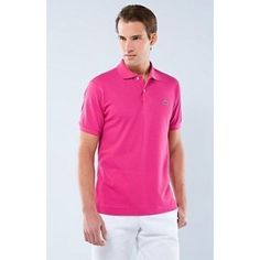 Men Polo Shirt Short Sleeve, HotPink