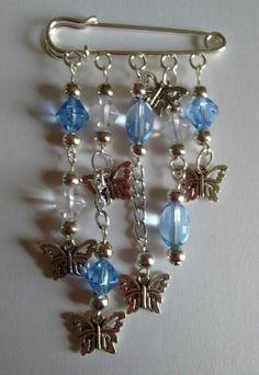 Butterfly kilt pin brooch