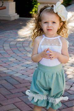 Summer Romper - Toddler Romper - Spring Romper - Girls Pantaloons - Monogrammed Pantaloons - Linen Romper - Toddler Playsuit