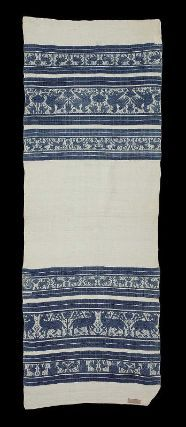 Woven towel  Italian (Umbria), 15th–16th century     Dimensions: 63 x 176 cm (24 13/16 x 69 5/16 in.);   Legacy dimension: 1.76 x .63    Medium or Technique: Linen and cotton figured weave