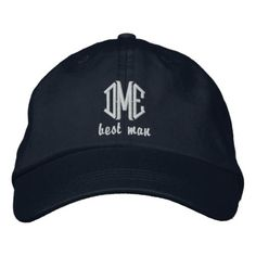 Shop Groom Custom Wedding Monogram Baseball Cap created by colorfulgalshop. Personalize it with photos & text or purchase as is! King Hat, Embroidery Materials, Embroidered Baseball Caps, Thick Thighs, Alternative Outfits, Dad Hats, Baseball Hats, Pro Baseball, Football
