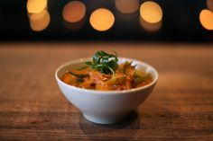 VEGETABLE CURRY (MILD)    Vegetarian from the A La Carte Menu    Zucchini, sweet potato, snow peas, red onions, tomatoes and green beans in our tangy curry