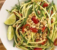 Thai-Style Zucchini Ribbon Salad (Based on Som Tum)