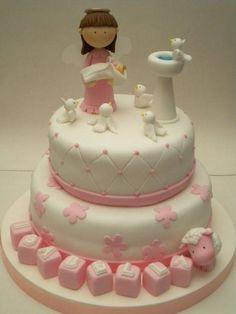 Resultado de imagen para tortas de primera comunion niña