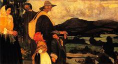 Os cegos, ca. 1913-1915. Óleo sobre lenzo. 70,6 x 100 cm. Colección herdeiros de Teresa Rodríguez Castelao