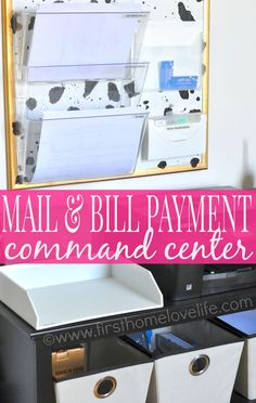 Set up a mail and bill payment center in your home. Keep track of your bills, and control the paper clutter for good. | via : first home love life