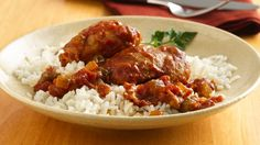 Enjoy a flavorful slow cooked dinner – chicken, bacon and vegetables served over rice. Perfect if you love Cajun cuisine.