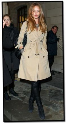 Can't go wrong with a trench coat look.