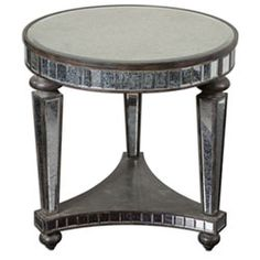 Sinley Distressed Ebony Accent Table