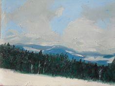 Eagle Mountains Czech Republic (oil on canvas paper)
