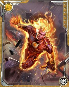 When Reed Richards created the technology that allowed him to transfer a hero's power set to another person, Johnny Storm and Quicksilver volunteered to test it out. As a result, the Human Torch was given the speed of Quicksilver.
