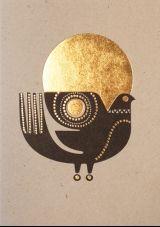 Sanna Annukka, Sunbird postcard at 1973 Motifs Animal, Scandinavian Folk Art, Art And Illustration, Bird Art, Letterpress, Stencil, Illustrators, Graphic Art, Abstract Art