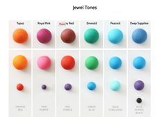 Jewel tones Satin Ice color mixes - Spring 2015 | Satin Ice ...