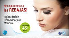 #oferta 💄 ❤ Pack especial #Rebajas por 45 €/pack: higiene facial + diseño cejas #estetica #belleza