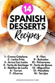 Spanish Desserts, Spanish Cuisine, Spanish Dishes, Spanish Recipes, Spanish Food, Churros, Flaky Pastry, World Recipes, Desert Recipes