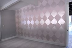 traditional bedroom by Allison Cosmos harlequin metallic paint