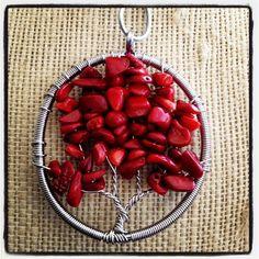 Handmade Coral Tree of Life Pendant #coral #handmade #treeoflife #tree #life