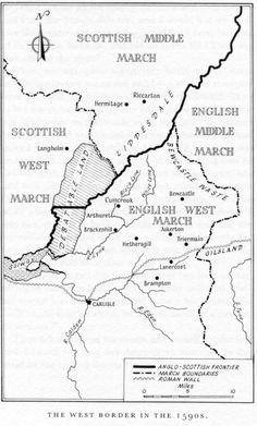 "The Eastern march centered on Berwick upon Tweed; the Middle march centered on the city and castle of Durham, and the Western march centered on the city of Carlisle. See The Borders. This partial map of the Borders area is from George MacDonald Fraser's book, ""The Candlemas Road"""