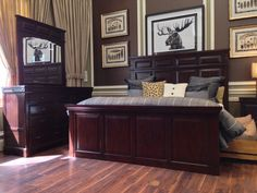 Make a statement of luxury in your bedroom with our stunning Woodlands 3-piece bedroom set!   Houston TX   Gallery Furniture  