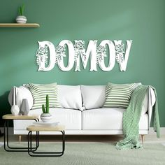 Slovenský nápis na stenu - Domov | DUBLEZ Outdoor Sofa, Outdoor Furniture, Outdoor Decor, Couch, Home Decor, Settee, Decoration Home, Sofa, Room Decor