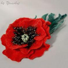 YanArt: Felted Poppy Flower - My Tutorial