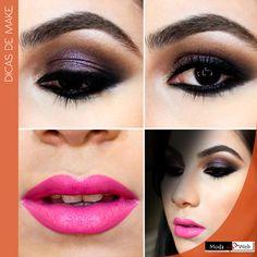 #DicadeMake: Inspiração de make do dia! Adoramos esse tom de rosa! #Moda #ModanaWeb #Tendência #RevendaOnline #Maquiagem