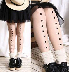 Velvet Embossed Damask Polka Dot Dash Line Geometric Airbrush Sheer Pantyhose | eBay
