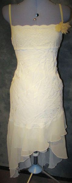 Ladies,size 12,ivory,self floral,strappy neck,high low hem,bodycon,Formal,Dress.