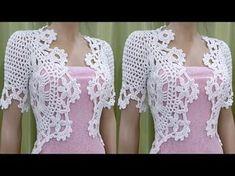 Bolero Crochet o Ganchillo - parte 3 de 3 - YouTube