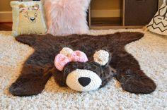 Alfombra infantil / alfombra de oso del Faux / bosque vivero /