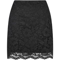 Miss Selfridge Black Lace A-line Mini Skirt ($60) ❤ liked on Polyvore featuring skirts, mini skirts, black, holiday skirts, short lace skirt, short skirts, cocktail skirt and lacy skirt