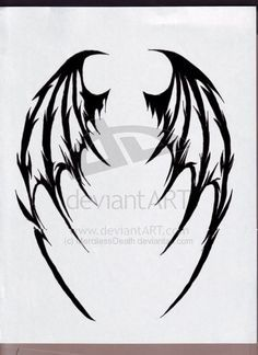 Image detail for -Demon Wings by ~MercilessDeath on deviantART... This could be a really cool tattoo idea to put in your back.