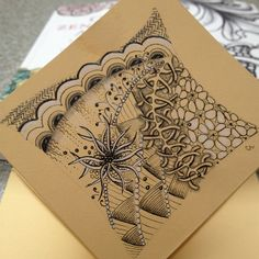 Day 16: Organic Tangles by Cris Letourneau, Certified Zentangle Teacher