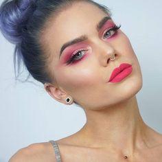A pink makeup for pink october lindahallberg.com #fotd #makeup #pinkribbon #fuckcancer